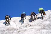 Ice Klettergruppe