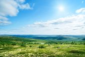 picture of arctic landscape  - north mountain tundra - JPG