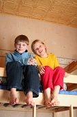 picture of bunk-bed  - happy children in child - JPG