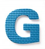 Letter G isolated on the white background