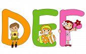 El alfabeto serie preescolar - Vector