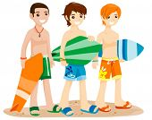 stock photo of summer beach  - Summer Teens  - JPG