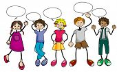 Talking Kids - Vector