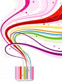 Abstract Rainbow Barcode Design - Vector