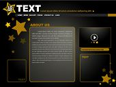 Gold Stars Website Template Design - Vector