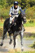 Cross-Country in Russia, horseback in splashes water