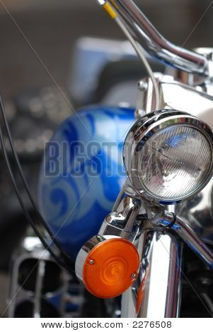Motorbike Headlight And Petrol Tank