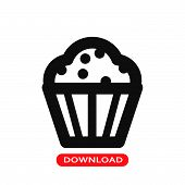 Cupcake Dessert Icon Vector In Modern Flat Style For Web, Graphic And Mobile Design. Cupcake Dessert poster