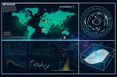User Interface Of The Future. Infographic Elements.crypto Currency. Bitcoin.  Abstract Virtual Graph poster