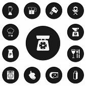 Set Of 13 Editable Cook Icons. Includes Symbols Such As Lactose, Oven Glove, Cheese And More. Can Be poster