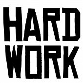 Hard Work Typographic Stamp. Typographic Sign, Badge Or Logo. poster