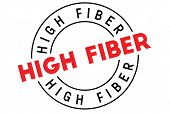 High Fiber Typographic Stamp. Typographic Sign, Badge Or Logo. poster