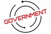 Government Typographic Stamp. Typographic Sign, Badge Or Logo poster