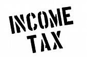 Income Tax Typographic Stamp. Typographic Sign, Badge Or Logo. poster
