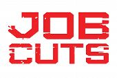 Job Cuts Typographic Stamp. Typographic Sign, Badge Or Logo. poster