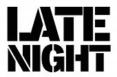 Late Night Typographic Stamp. Typographic Sign, Badge Or Logo. poster