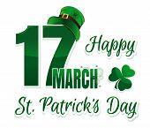 Vector Logo For St. Patricks Day poster