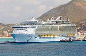 Oasis Of The Seas Anchors In St. Maarten