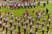 Florida State University Band And Football Players