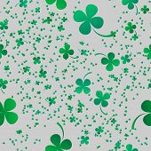 Irish Four Leaf Lucky Clovers Background For Happy St. Patrick S Day. Eps 10. Seamless Pattern poster