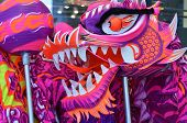 Close Up Of Chinese Dragon Used For The Dragon Dance. poster