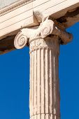 Columna jónica, Grecia, Europa, Acrópolis, Atenas, Grecia