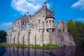 The Gravensteen medieval castle, Ghent, Belgium