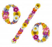 flowers of percent sign