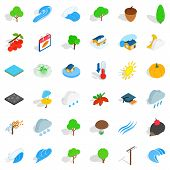 Beautiful Land Icons Set. Isometric Set Of 36 Beautiful Land Vector Icons For Web Isolated On White  poster