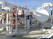 Heat Exchangers In A Refinery. The Equipment For Oil Refining. Heated Gasoline Air Cooler poster