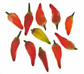 Group Of Hot Red Chili Peppers