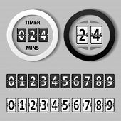 vector countdown round mechanical timer