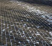 Paving Slab, Paving Tile. Footpath. Walking Path. Pedestrian Walkway. poster