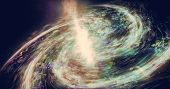 Gas And Acid Star Nebula. Impressive Structure Of The Spiral Galaxy. poster