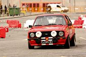 Leiria, Portugal - April 22: Flavio Araujo Drives A Ford Escort Mkii During Day Three Of Rally Verde