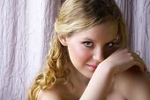 Blond Woman With Smile