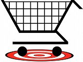 Shopping Cart W Target Underneath