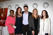LOS ANGELES - APR 14:  Tangy Ambrose, Rachel Boston, Frederick Weller, Lesley Ann Warren and Mary Mc