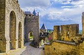 Typical Landscape Of A Sunset In The Southern France Countryside. Carcassonne France. poster