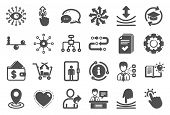 Artificial Intelligence, Balance And Refer A Friend Icons. Continuing Education, Methodology And Exh poster
