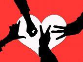Love Hands Redblkwht