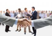 handshake isolated abd business people