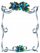 Christmas, Hanukkah Background, Border Or Frame