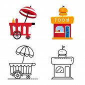 Isolated Object Of Amusement And Store Icon. Set Of Amusement And Urban Vector Icon For Stock. poster