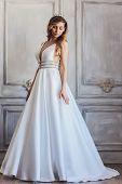 Beautiful Wedding Dress. Bride In Wedding Dress. Wedding Dress In Paris. Bride In A Luxury Apartment poster