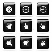 image of cuckold  - Set of glossy buttons with icons - JPG