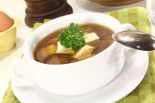 Beef Consomme With Egg