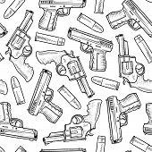 Seamless handgun background