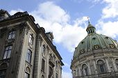Dome Of The Marble Church And Building  In Copenhagen, Denmark. poster