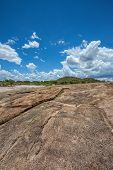 Rocky landscape on a hill in Botswana, southern Africa, Africa poster